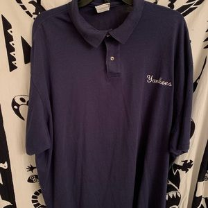 """Men's collared embroidered tee """"Yankees"""""""